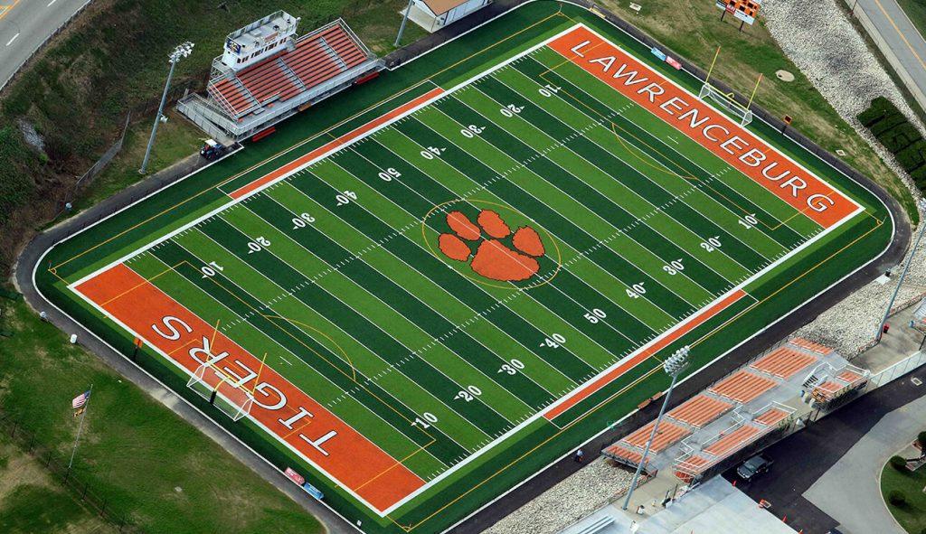 turf football field lawrenceburg tigers
