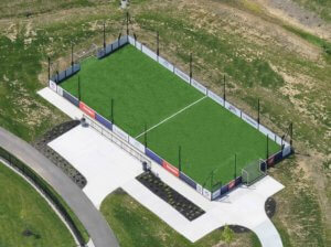 Aerial picture of Common Ground mini pitch