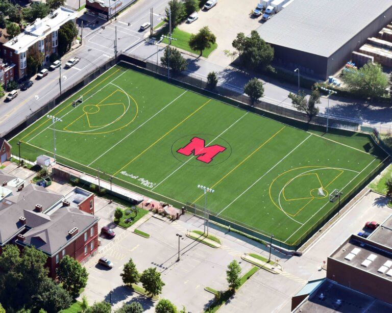 Aerial view of DuPont Manual field