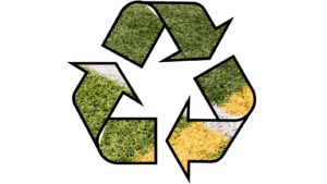 recycle symbol with turf