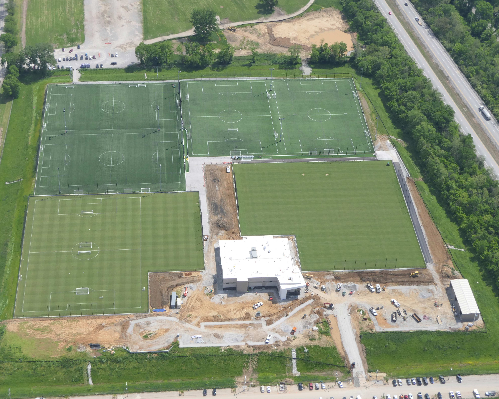 Louisville City FC Aerial 2021Louisville City FC Practice Facility