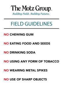 list of rules to keep your field in top shape