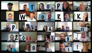 Employee-owners announcing Top Workplaces Honor